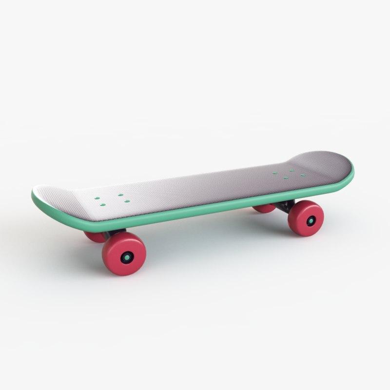 3d skate toy model