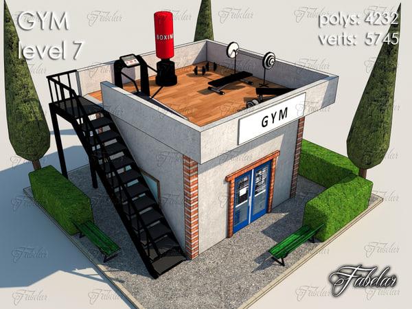 gym level 7 3d model