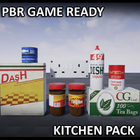 PBR Game Ready Kitchen Pack