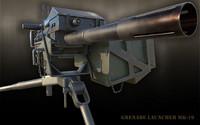 pbr grenade launcher 3d max