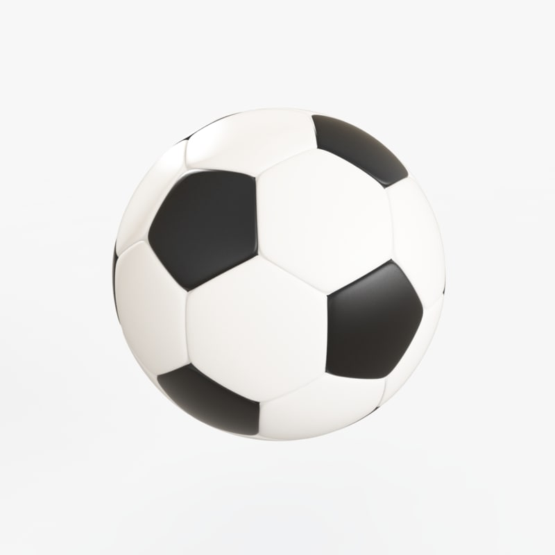 soccer balloon 3d max