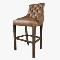 Restoration Hardware /Martine Tufted Leather Stool