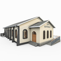 3d church building model