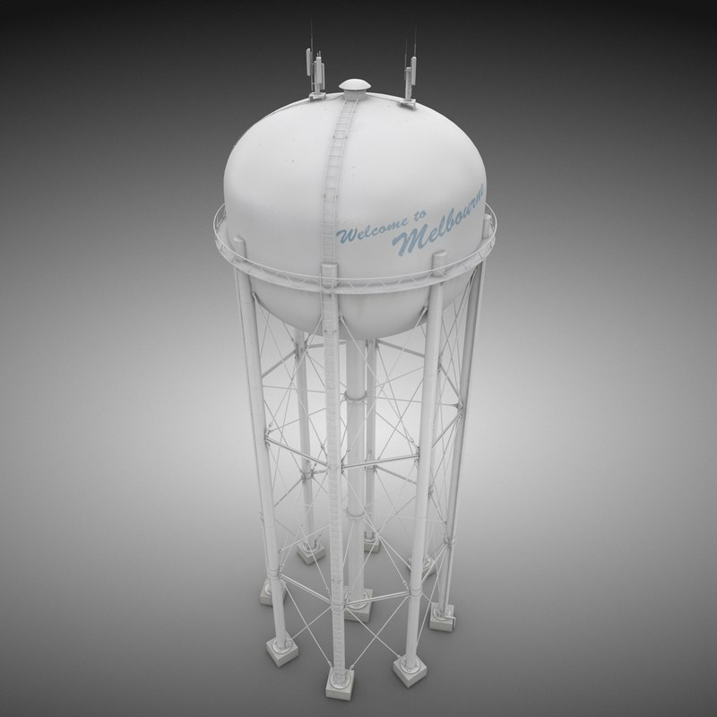 3d model of water tower