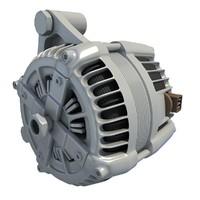 3d alternator engine car model