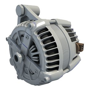 3d alternator engine car model