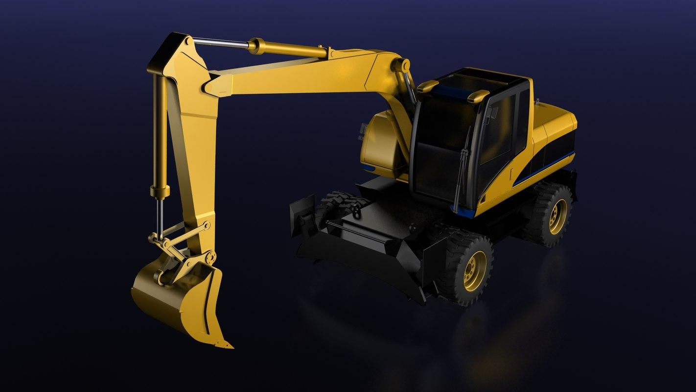 mining excavator 3d max