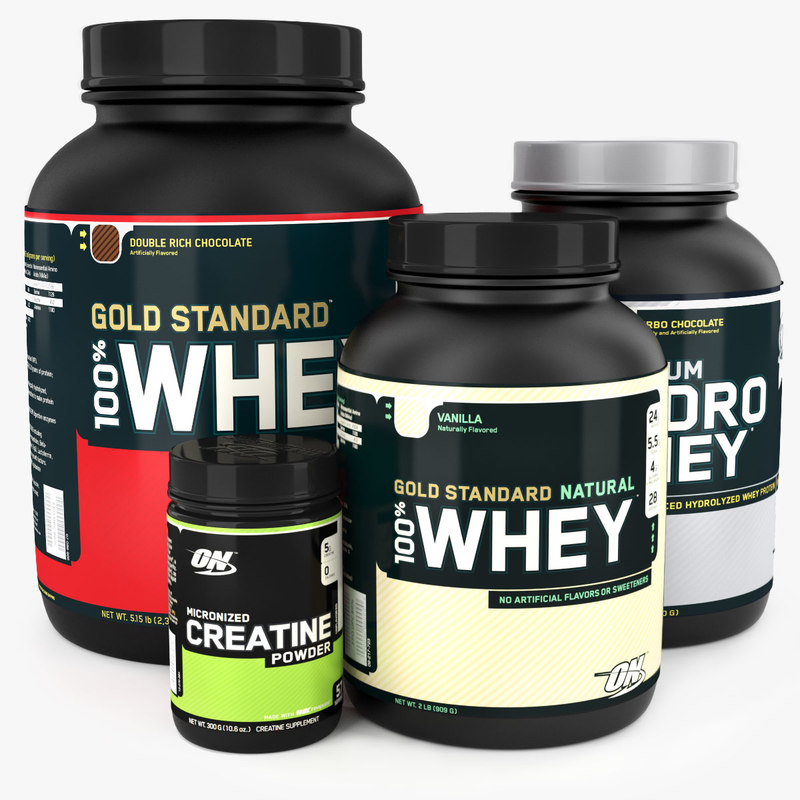 3d optimum nutrition supplements model