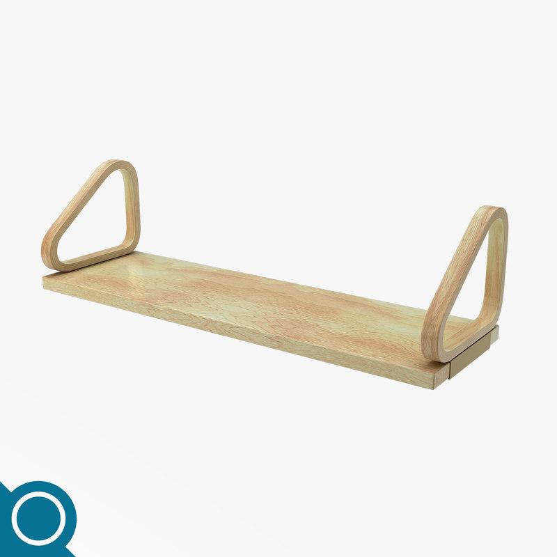 free alvar aalto wall shelf 3d model