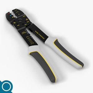 wire stripper tool plier 3d model