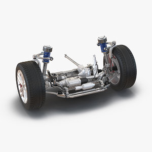 3d model suv suspension