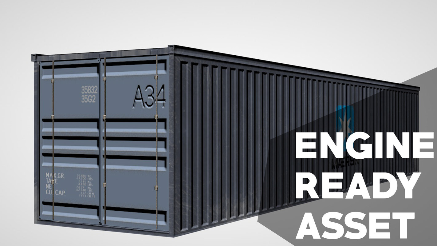 shipping container 3d c4d