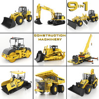construction machinery 9 1 3d max