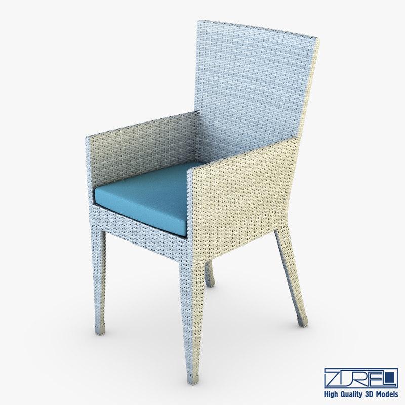 3d model rexus chair white v