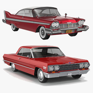 3d model plymouth fury coupe