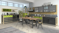 3d industrial kitchen