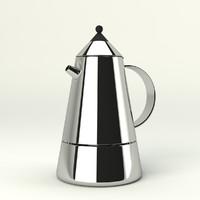 3d model coffee maker bialetti mia