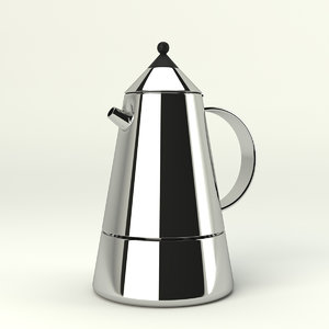 coffee maker bialetti mia 3d model
