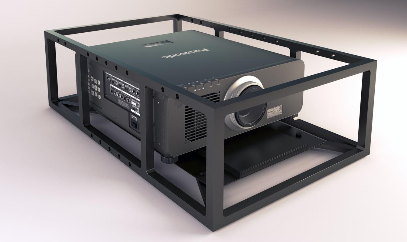 professional projector panasonic dz870 3d max