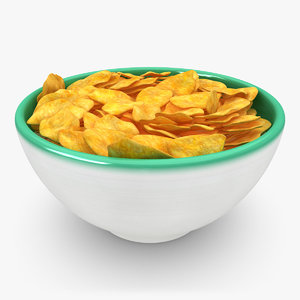 3d realistic cereal model