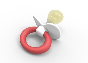 3d small pacifier model