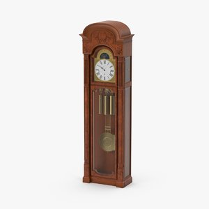 3d model grandfather clock