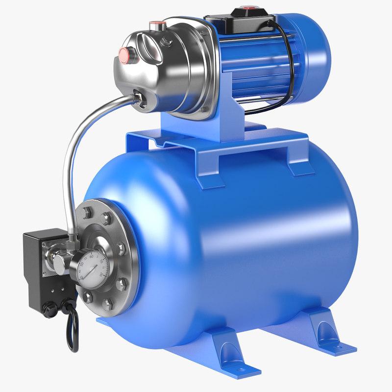 water pump 3d max
