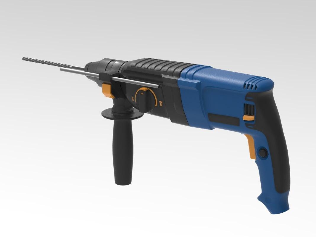 3d model hammer drill