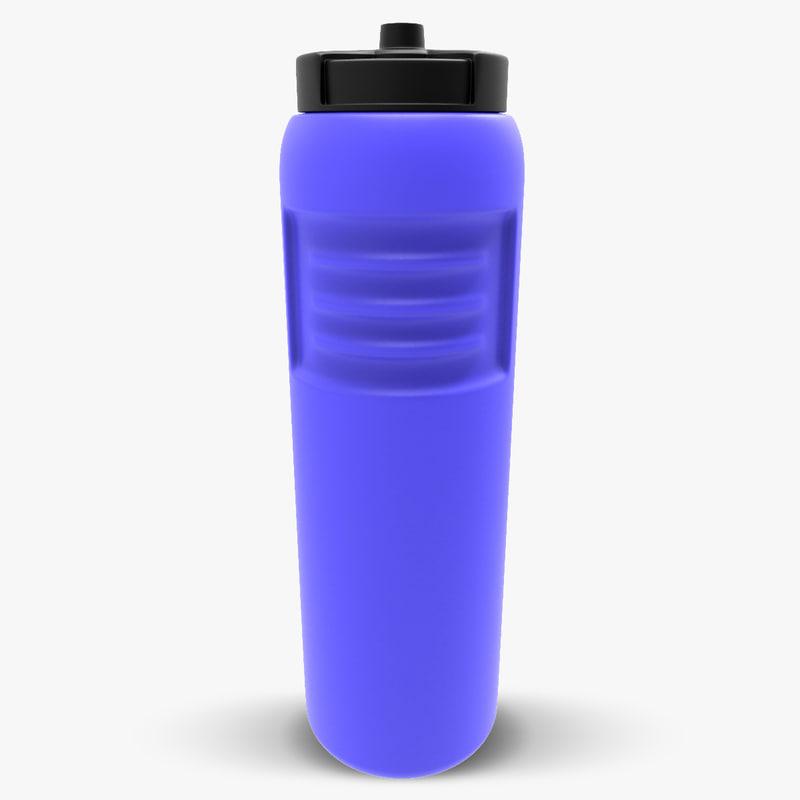 plastic bottle sport 3d max