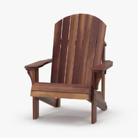 Dark Wood Adirondack Chair