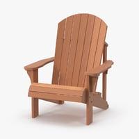 Cadeira de Adirondack de madeira clara