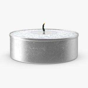 3d tea light candle