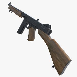3d max thompson submachine gun 19281