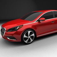 3d model hyundai sonata plug-in hybrid