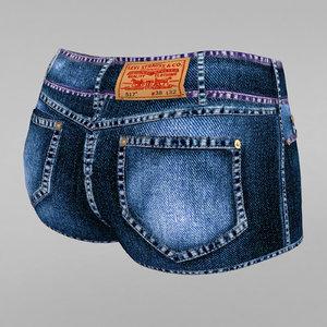 3d jeans shorts