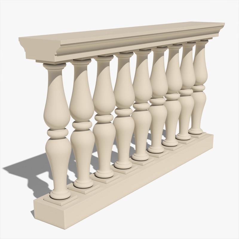 3d realistic balustrade model