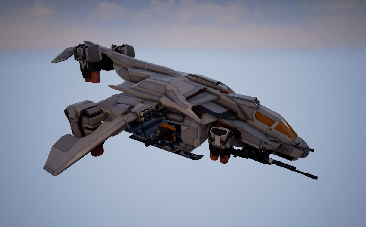 helicopter pbr realtime 3d model