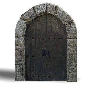 medieval doors 3d model