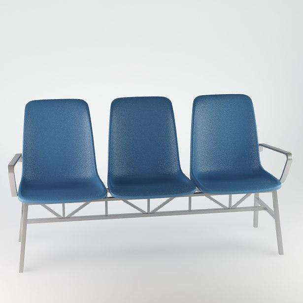 obj bench seat waiting