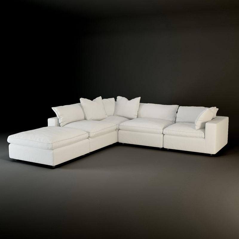 andrew martin truman sectional sofa 3d model