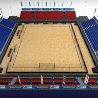 beach soccer stadium 3d model