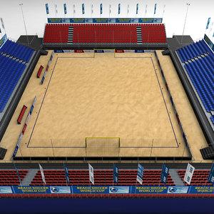 beach soccer stadium 3d model