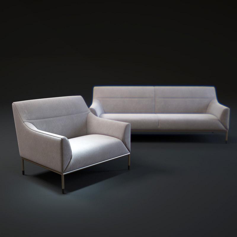 curve-sofa 3d model