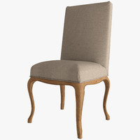 LOUIS XV CABRIOLE FABRIC SIDE CHAIR