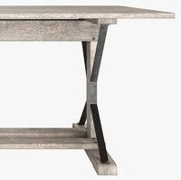 3d 20th industrial dining table model