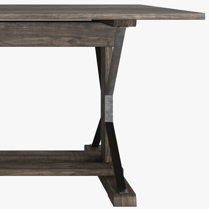3d model dining industrial table