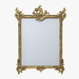 rococo picture frame 3d model
