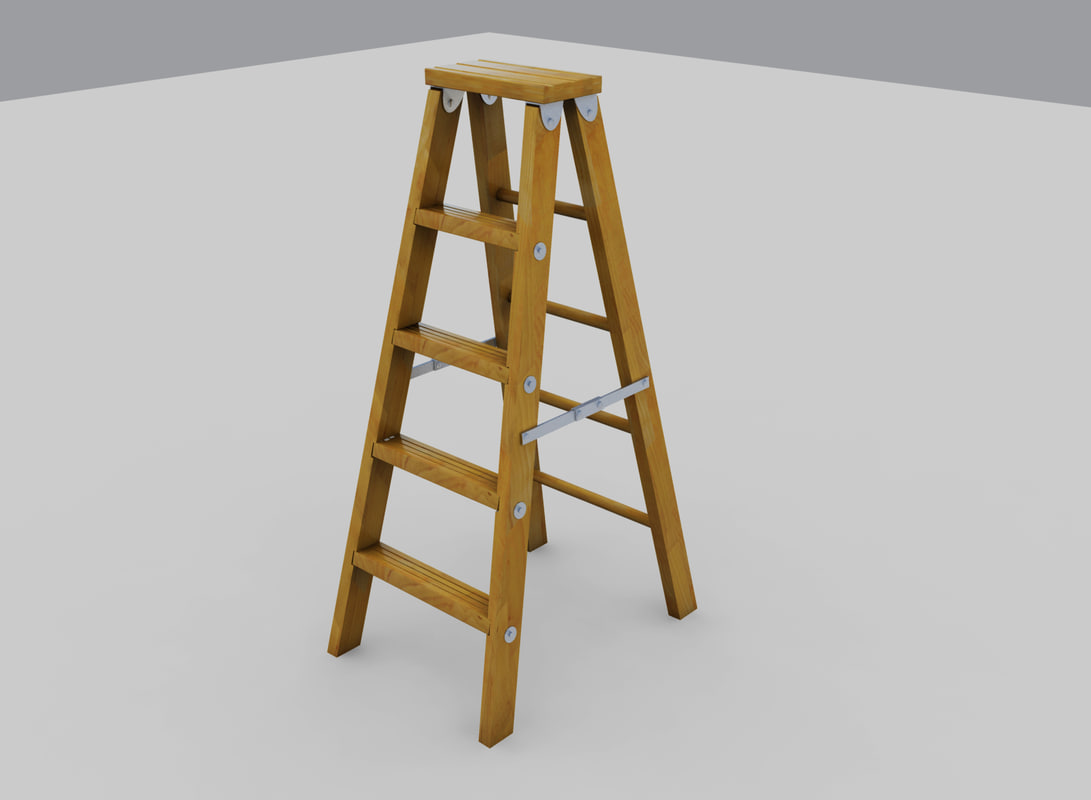 folding wood step ladder max