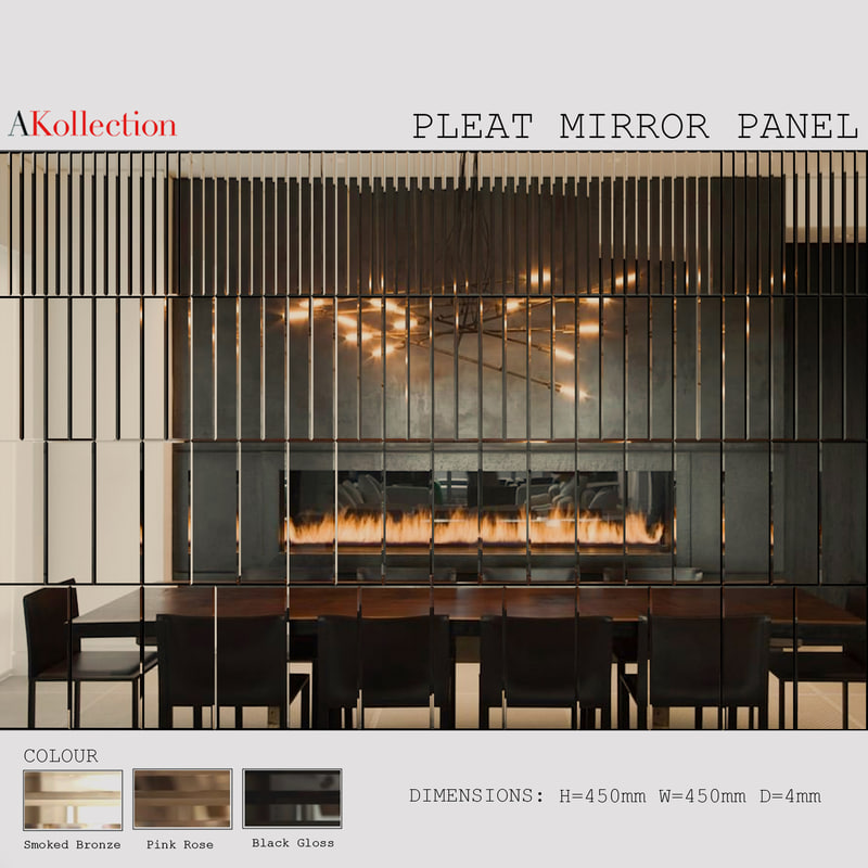3d akollection mirror wall panels model