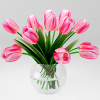 3d model bouquet tulips
